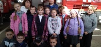 Дружина «Юных пожарных» 4 Б класса  побывала на экскурсии ПЧ -22