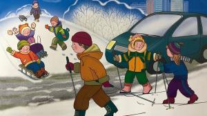 правила поведения на дороге  зимойf
